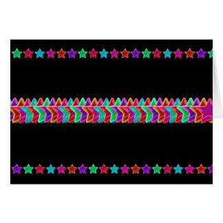 neon stars plain card