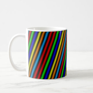 NEON STRIPE COFFEE MUG