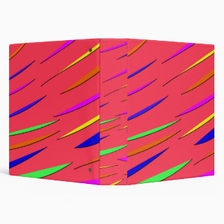 Neon Striped Design Binder