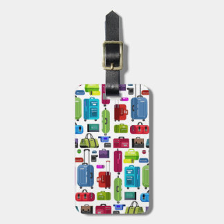 Neon Suitcases Luggage Tag