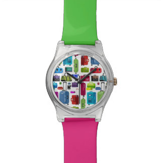 Neon Suitcases Watch