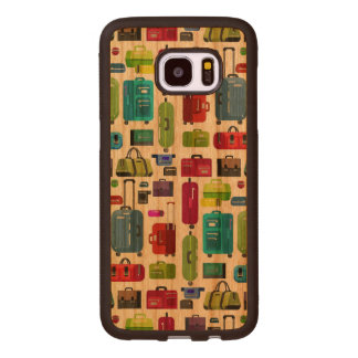 Neon Suitcases Wood Samsung Galaxy S7 Edge Case