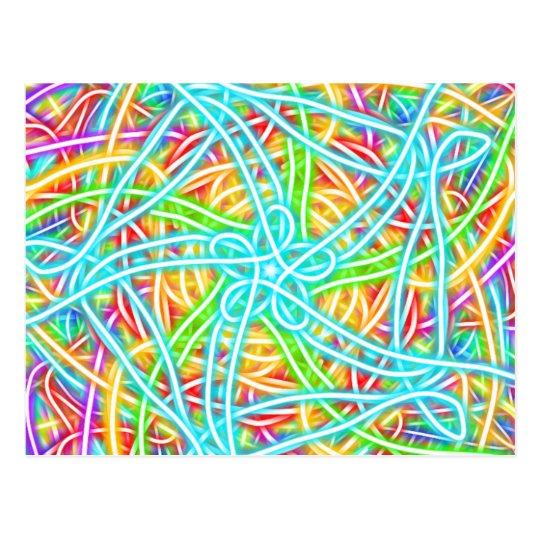 Neon Swirl Postcard