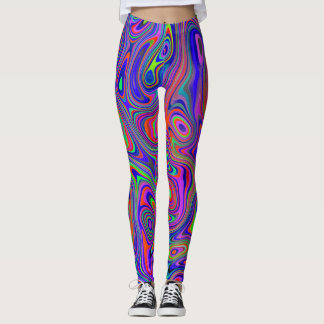 Neon Swirls Leggings
