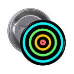 Neon Target 2 Inch Round Button