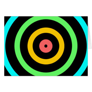 Neon Target Card