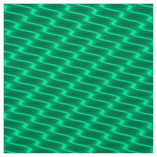 Neon Teal Wavy Lines Fabric Pattern