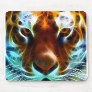 Neon Tiger Mouse Pad