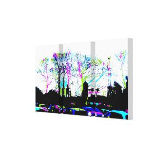 Neon Trees Urban Skyline cool original design Canvas Print