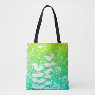 Neon Tropical Foliage All-Over-Print Tote Bag