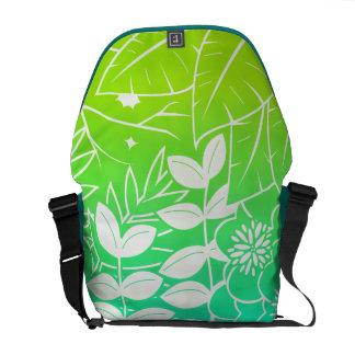 Neon Tropical Foliage Messenger Bag