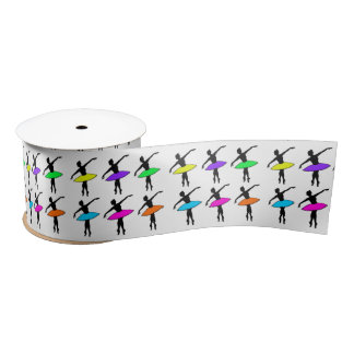 Neon Tutu Ballerinas Ballet Dancer Dance Ribbon Satin Ribbon