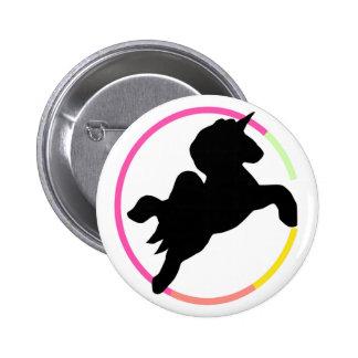 Neon unicorn! 2 inch round button
