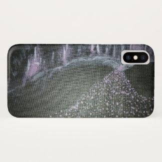 Neon violet cityscape Case-Mate iPhone case