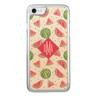 Neon Watercolor Watermelons Pattern Carved iPhone 8/7 Case