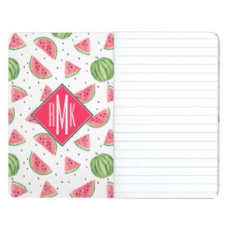 Neon Watercolor Watermelons Pattern Journal