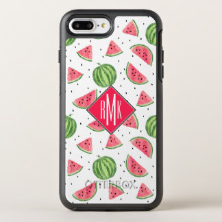 Neon Watercolor Watermelons Pattern OtterBox Symmetry iPhone 8 Plus/7 Plus Case