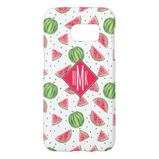 Neon Watercolor Watermelons Pattern Samsung Galaxy S7 Case