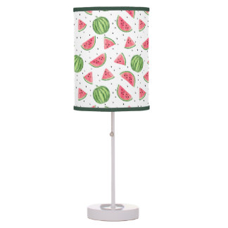 Neon Watercolor Watermelons Pattern Table Lamp