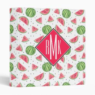 Neon Watercolor Watermelons Pattern Vinyl Binders