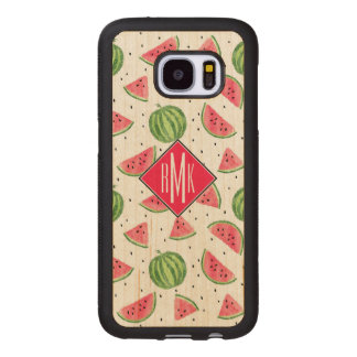 Neon Watercolor Watermelons Pattern Wood Samsung Galaxy S7 Case
