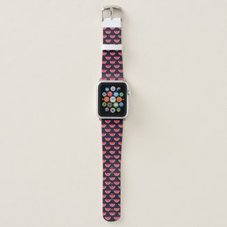Neon Watermelon on Purple Pattern Apple Watch Band