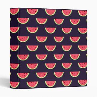 Neon Watermelon on Purple Pattern Binder