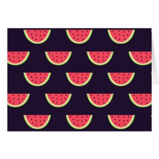 Neon Watermelon on Purple Pattern Card