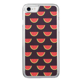 Neon Watermelon on Purple Pattern Carved iPhone 8/7 Case