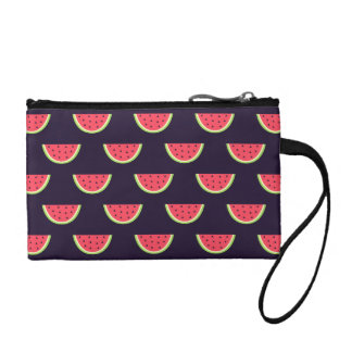 Neon Watermelon on Purple Pattern Coin Purse