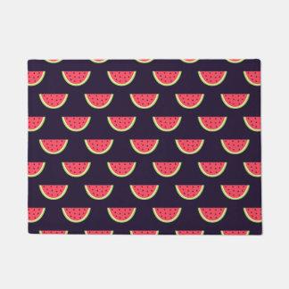 Neon Watermelon on Purple Pattern Doormat