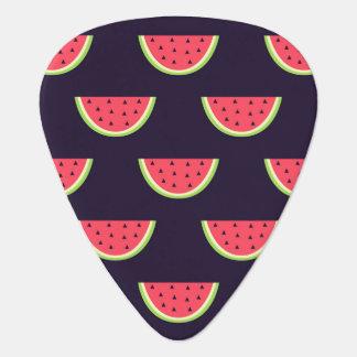 Neon Watermelon on Purple Pattern Guitar Pick