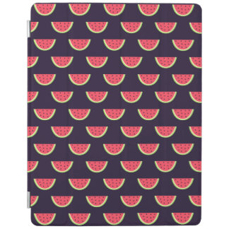 Neon Watermelon on Purple Pattern iPad Cover