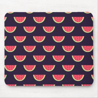 Neon Watermelon on Purple Pattern Mouse Pad