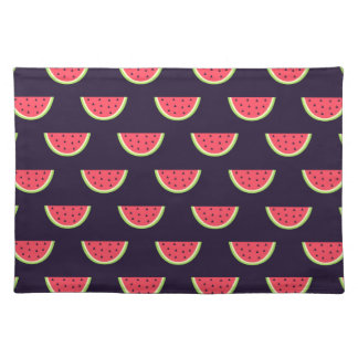 Neon Watermelon on Purple Pattern Placemat