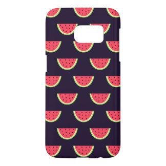Neon Watermelon on Purple Pattern Samsung Galaxy S7 Case