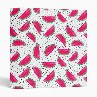 Neon Watermelon on Seeds Pattern Binders