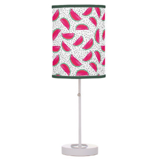 Neon Watermelon on Seeds Pattern Table Lamp