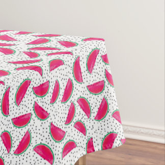 Neon Watermelon on Seeds Pattern Tablecloth