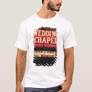 Neon Wedding Chapel Sign in Las Vegas, USA T-Shirt