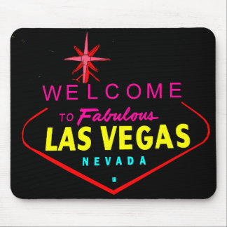 Neon Welcome Vector Graphic Mousepad #1