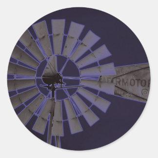 Neon Windmill Round Sticker