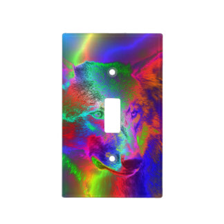 NEON wolf Light Switch Cover