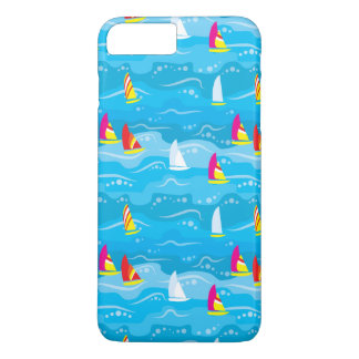 Neon Yacht Pattern iPhone 7 Plus Case