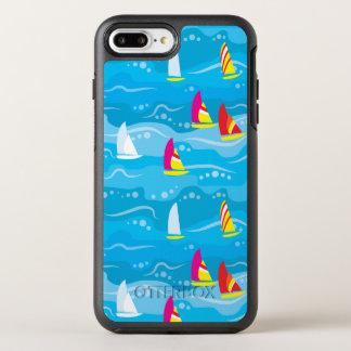 Neon Yacht Pattern OtterBox Symmetry iPhone 7 Plus Case