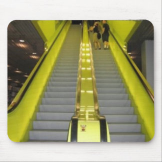 Neon Yellow Escalator Mouse Pad