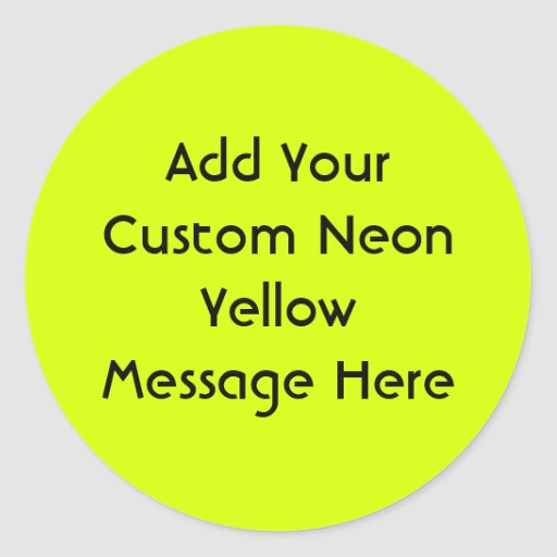 Neon Yellow, High Visibility Sticker