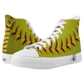 Neon Yellow Softball High Tops