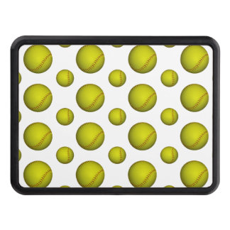 Neon Yellow Softball Pattern Trailer Hitch Covers