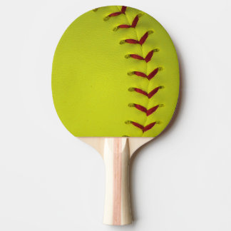 Neon Yellow Softball Ping Pong Paddle